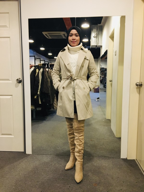 BJ1017 NATURAL BEAUTY TRENCH COAT - Bundle Preloved