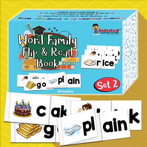 Word Family Flip and Read Book Set 2 - Kidcited Learning Store