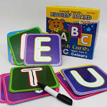 Kiddies' Board Mini Flash Cards ABC Upper Case & Colours - Kidcited Learning Store