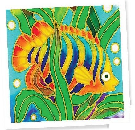 Batik Painting Set - Fish (113)  - Kidcited Learning Store