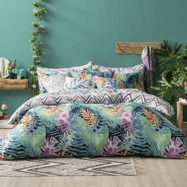 Ombre Home Amazonia Quilt Cover Set- QUEEN