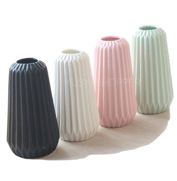 Tall Ribbed Vase
