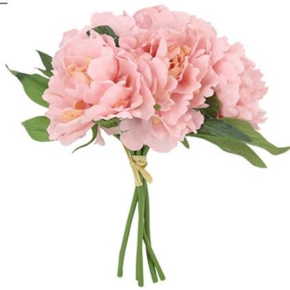 Pink Peony Hydrangea Faux Flower