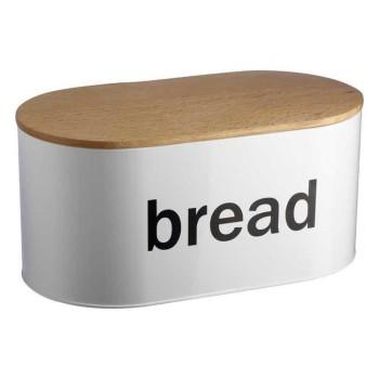 Bread Bin With Wooden Lid