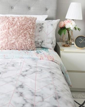 Ombre Home Winter Luxe METALLIC Quilt Cover Set -QUEEN