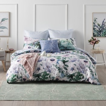 Ombre Home Floral Chic Quilt Cover Set QUEEN