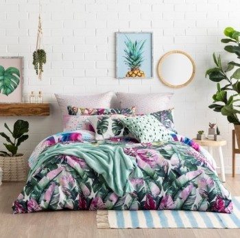 Ombre Home  Tropical Soul FERN Quilt Cover Set-KING