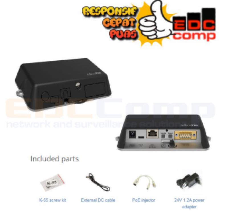 Mikrotik RBD23UGS-5HPacD2HnD NetMetal ac² Dual Band Access Point - EdcComp