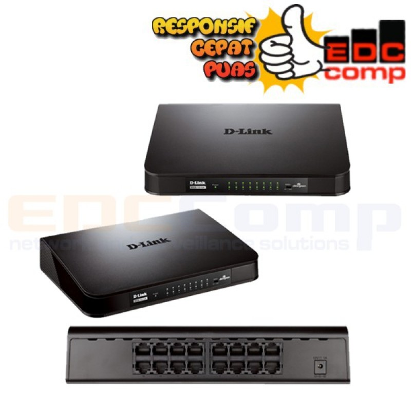 Switch Hub D-Link DLink 16 Port 10/100 DES 1016A - EdcComp