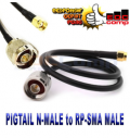 Cable Pigtail N-Male to RP-SMA Male 30 cm / Jumper Kabel - EdcComp