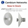 PTP - 2Unit - Cambium EPMP 5 GHz Force 200 AR5-25 High Gain Radio - EdcComp
