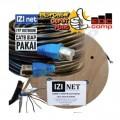 Cable STP/FTP Cat 5e Outdoor Cable 75 Meter IZI net Original - EdcComp