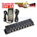 Paket POE Injector 8 Port + Switching Adaptor 24V 3A | Pasif POE - EdcComp