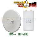 PAKET RocketDish / Rocket Dish 5G 30dbi (Frek 5.8ghz) + Rocket M5 - EdcComp