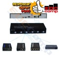 Ethernet Fiber Switch 6 SC 2 LAN /Media Converter Switch FO 6 SC - EdcComp