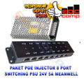 Paket POE Injector 8 Port dan Switching Power Suply 24V 5A - EdcComp