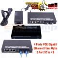 Ethernet Fiber Switch 2 SC 4 POE Gigabit /Media Converter Switch - EdcComp