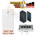 N-SW NanoSwitch Outdoor 4-Port Passthrough Switch + POE-24-30W-G - EdcComp