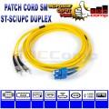 Patch Cord Fiber Optic ST-SC/UPC Single Mode 3 Meter Duplex - EdcComp