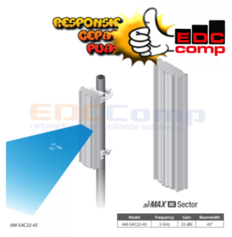 UBIQUITI AM-5AC22-45 airMAX Sector Antenna 45 derajat 22dBi 5GHz - EdcComp