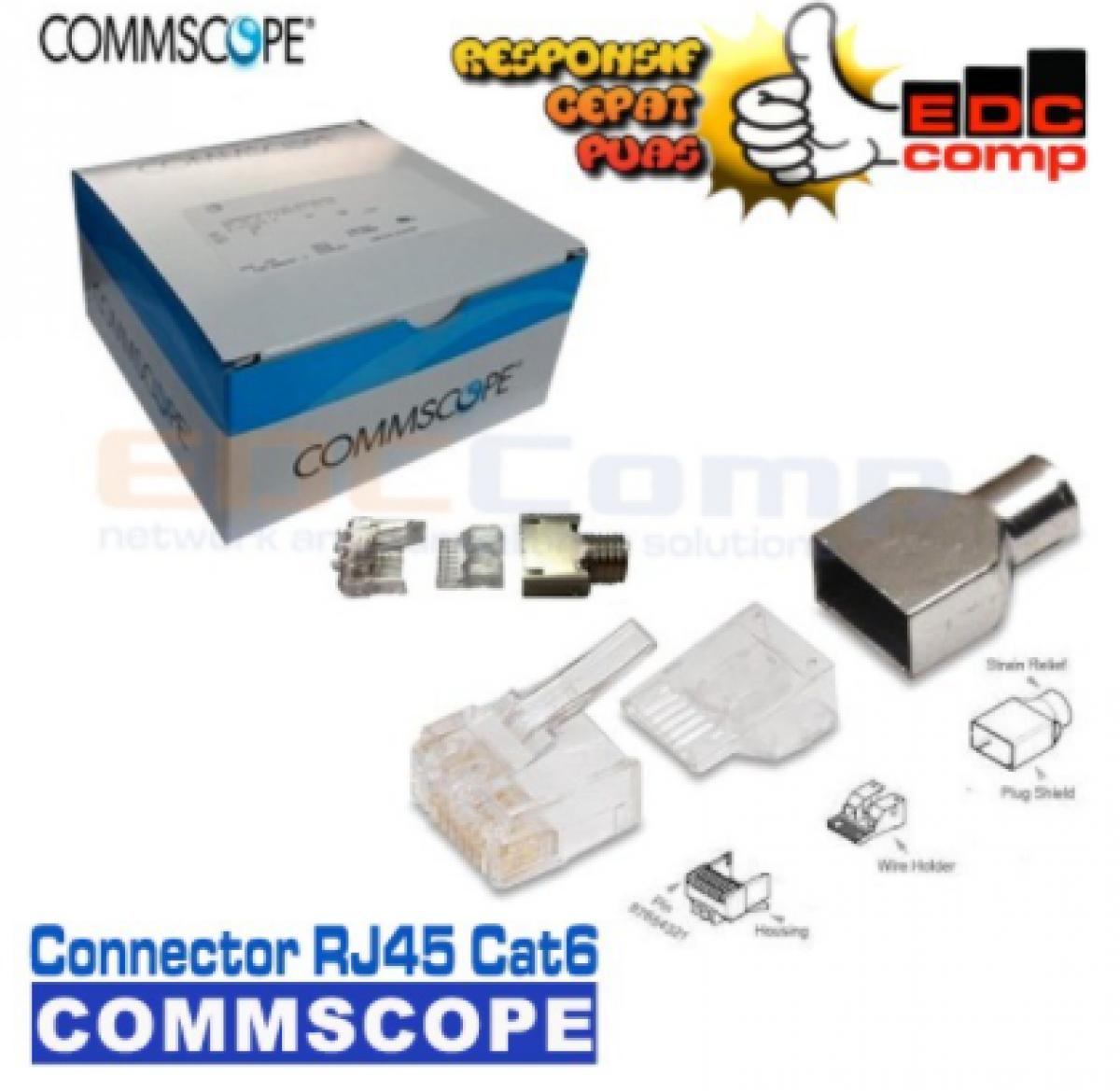 Connector RJ45 UTP Cat6 Commscope / AMP Konektor Original - EdcComp