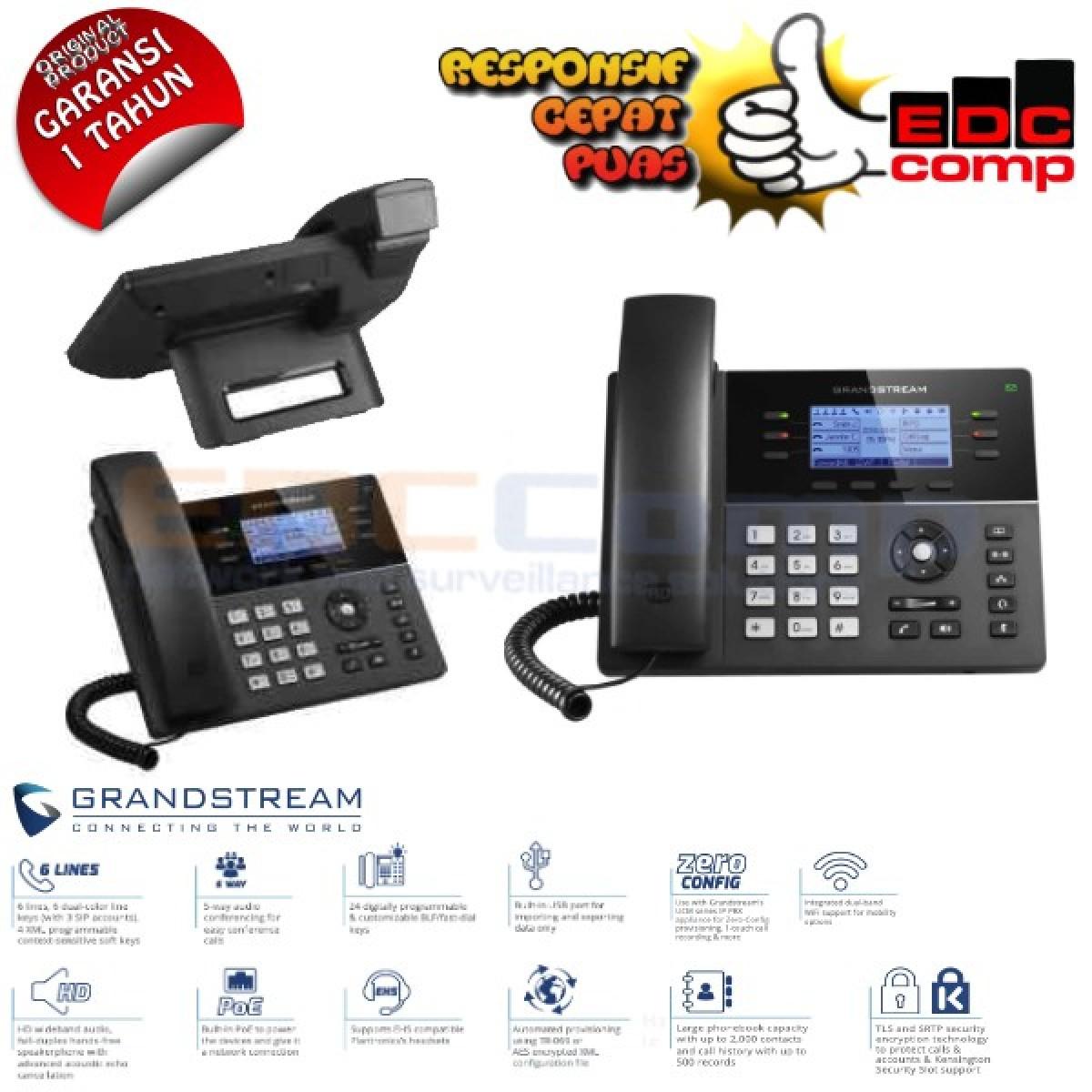 Grandstream GXP1760W HD IP Phone with WiFi   GXP1760W Grandstream - EdcComp