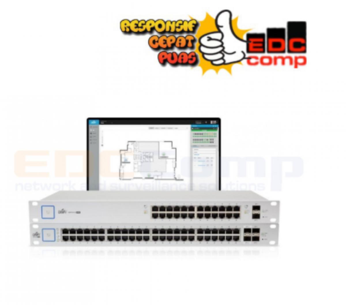 Ubiquiti US-48-500W UniFi Switch PoE+ 48 Gigabit 500W with SFP - EdcComp