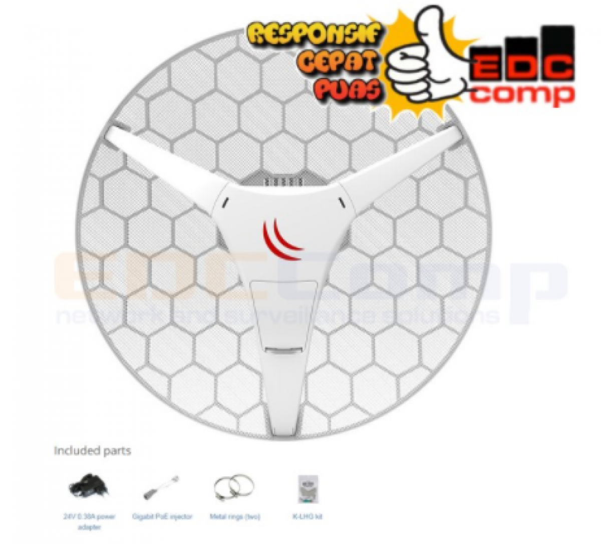 Embedded Wireless MikroTik RBLHGG-5acD / RB LHGG 5ACD / RB LHG - EdcComp