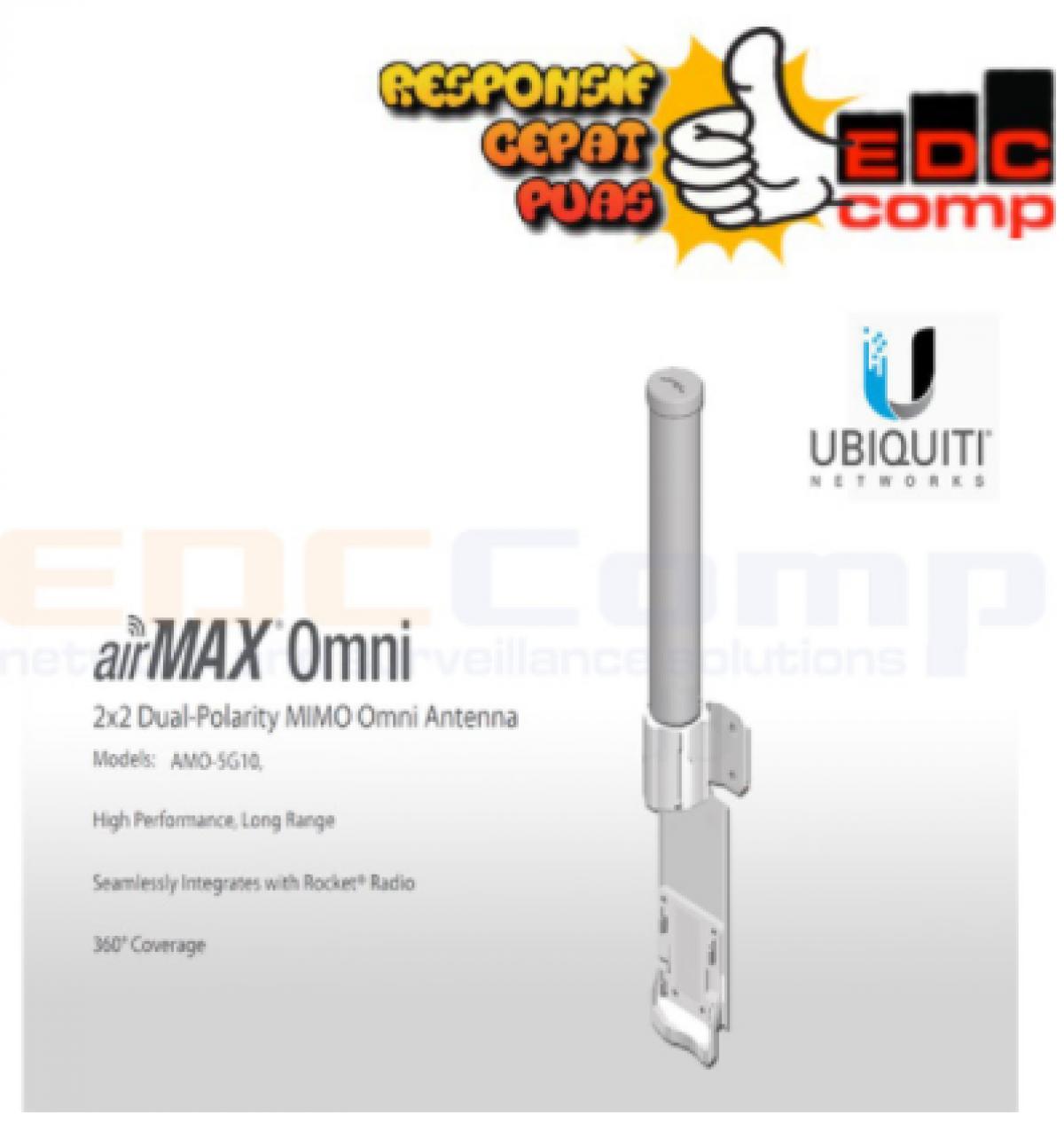 Ubiquiti Antenna Omni Airmax 5Ghz 10dbi AMO-5G10 - EdcComp