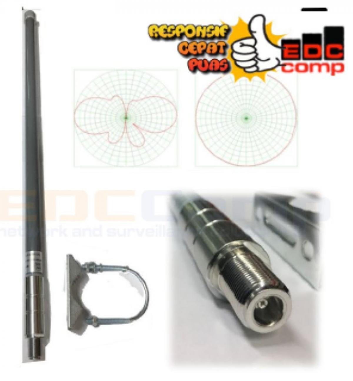Antenna Omni Hotspot Wifi Dual Band 2.4G / 5.8G 8dBi N-Female 35 - EdcComp