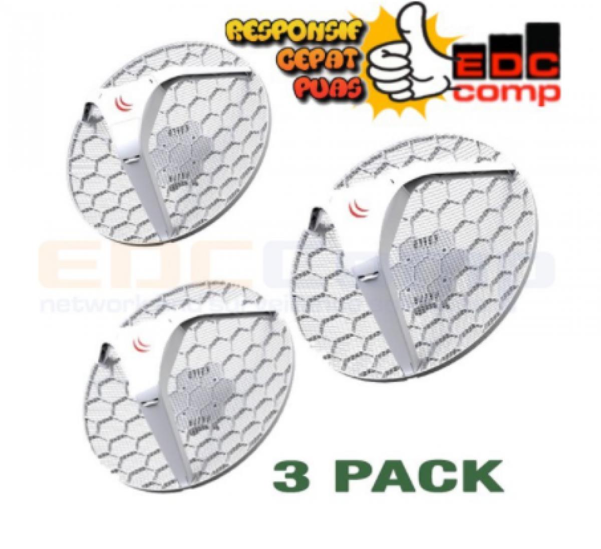 MikroTIK RBLHG-5 | RB LHG-5 | Embedded Wireless RBLHG-5nD 3 Pack - EdcComp