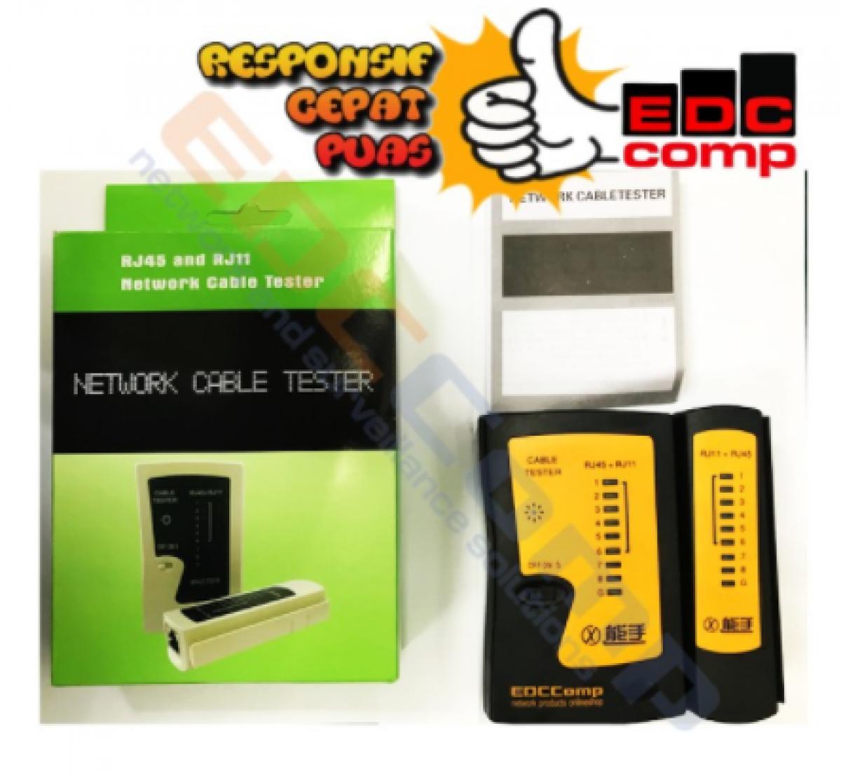 Kabel Lan Tester - Kabel RJ45/RJ11 Tester EDCComp / Cable Tester - EdcComp