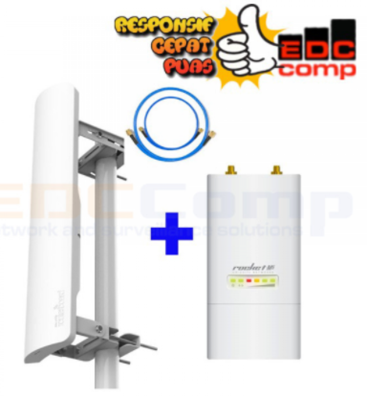 Paket Ubiquiti RM5 Rocket M5 + mANT 19S 120 Sector Antenna - EdcComp