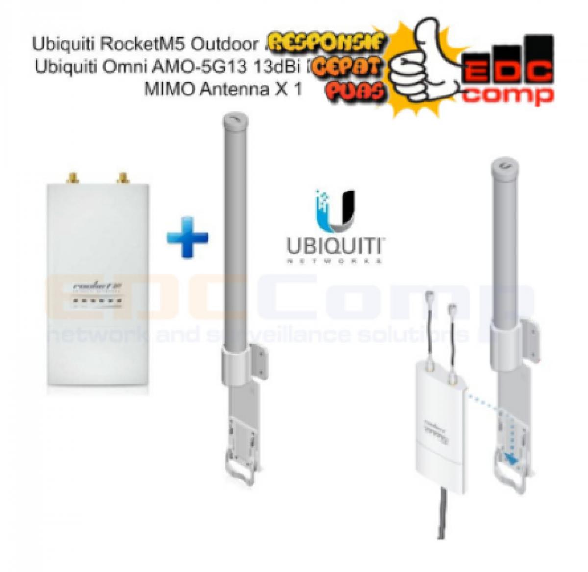 Paket Ubiquiti Rocket M5 + Antenna Omni AMO-5G13 - EdcComp