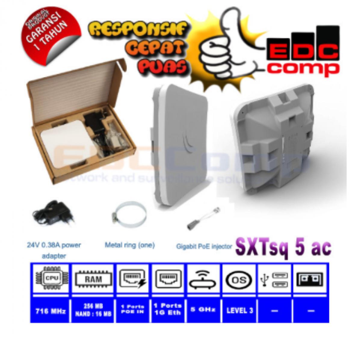 Mikrotik SXTsqG 5acD Embedded Wireless Client RbSXTsqG 5acD 5GHz - EdcComp