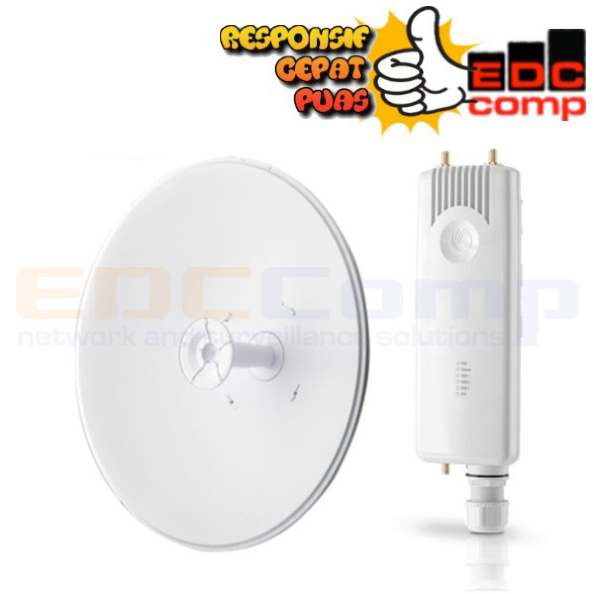 Cambium Networks ePMP Force 300 + UBNT Rocket Dish 5G 30dbi LW - EdcComp