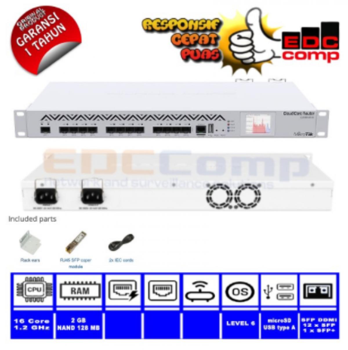Mikrotik CCR1016-12S-1S+v2 Cloud Core Router Mikrotik - EdcComp