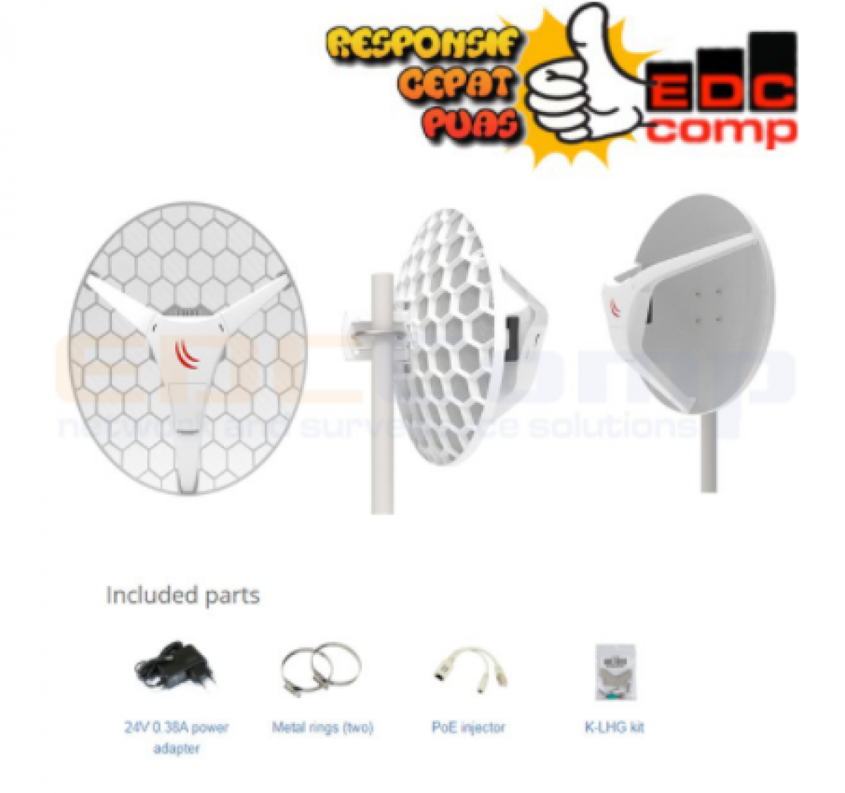 Mikrotik Wireless Wire Dish RBLHGG-60adkit - EdcComp