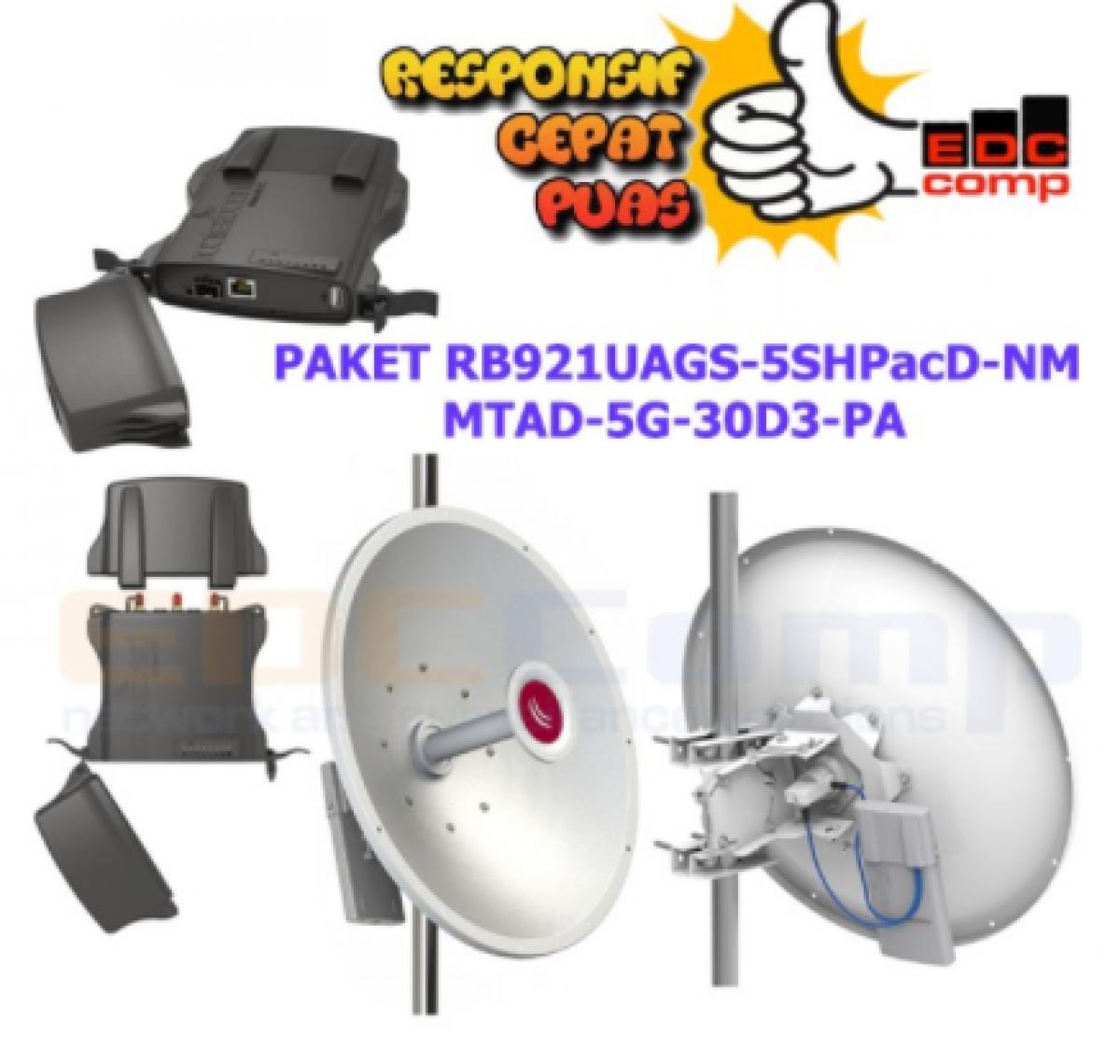Paket Mikrotik NetMetal RB921UAGS-5SHPacD-NM + mANT30 MTAD-5G - EdcComp