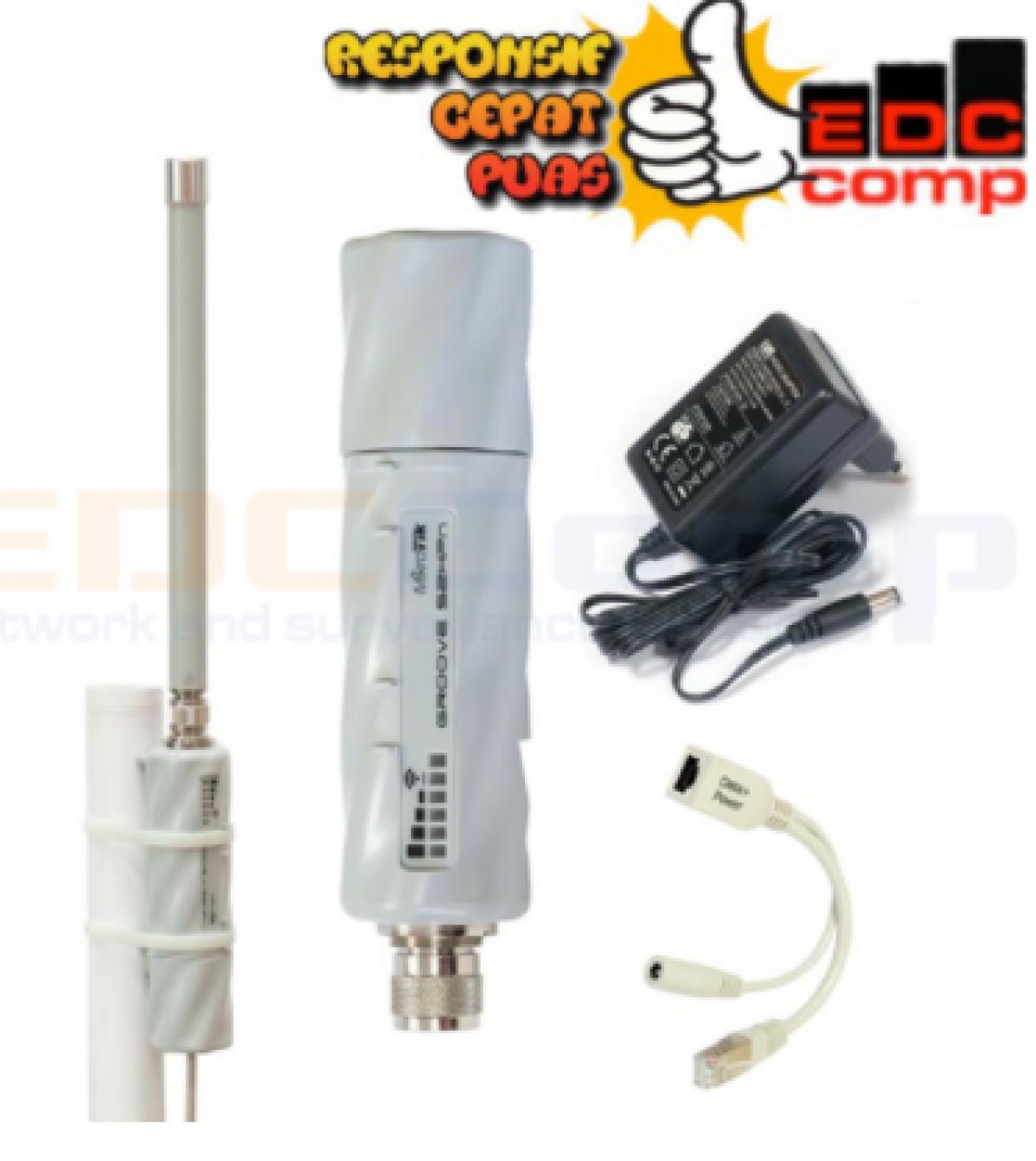 Paket Wifi Hotspot Mikrotik Groove A 52HPn dan Omni Dual Band 12 - EdcComp