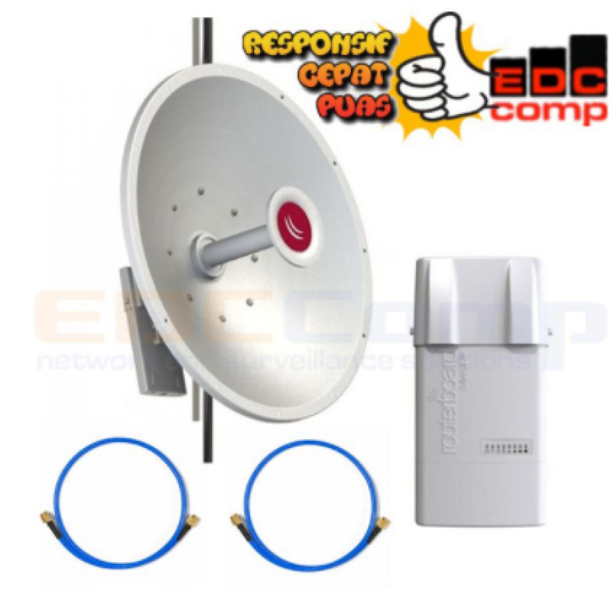PAKET Mikrotik RB912UAG-5HPnD-OUT Basebox 5 & MTAD-5G-30D3 mANT30 - EdcComp