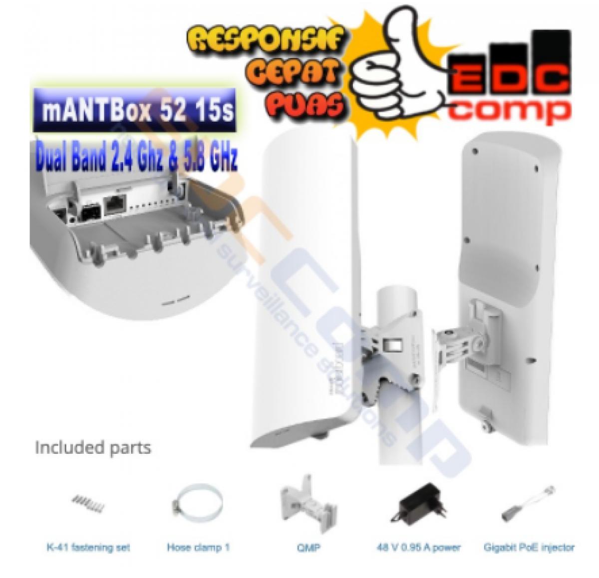 Mikrotik mANTBox-52 15s RBD22UGS-5HPacD2HnD-15S Dual Band - EdcComp