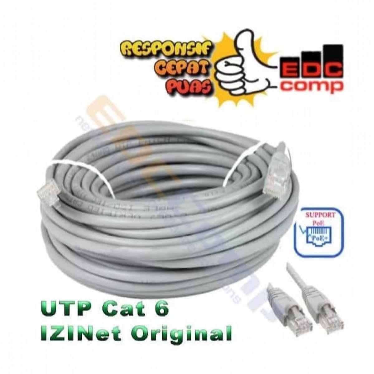 Kabel IZINET UTP Cat6 / Cable Izinet Cat6 30 Meter - EdcComp