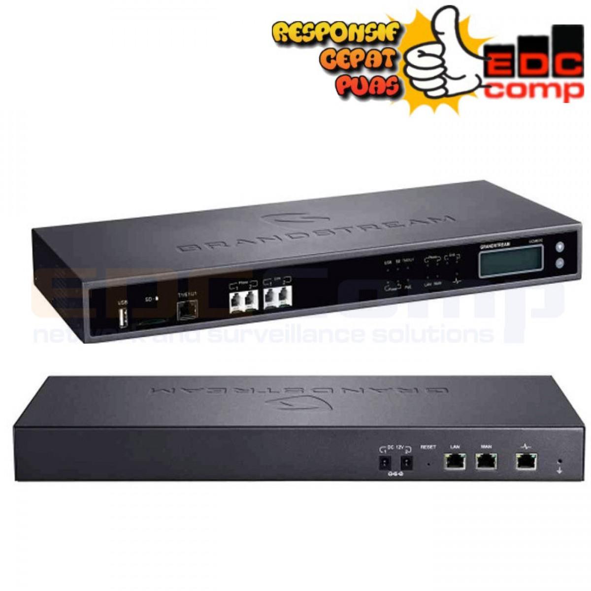 Grandstream UCM6510 IP-PBX 1T1/E1/J1 2-FXO & 2-FXS UpTo 200 Call - EdcComp