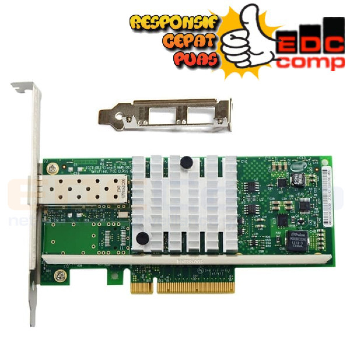 Intel X520-DA1 10G 82599ES PCl-E SFP Ethernet Server - EdcComp