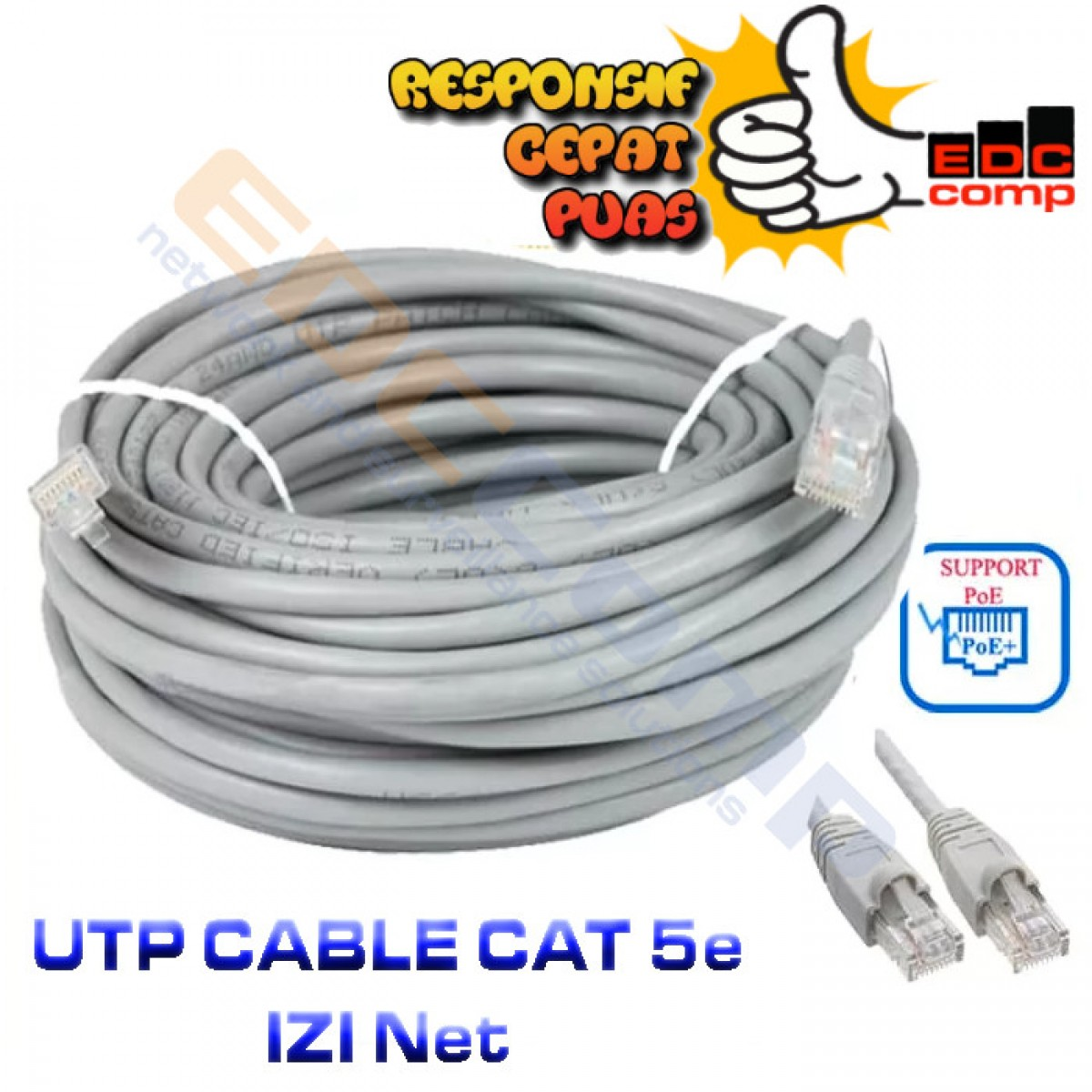 UTP Cable IZINET Cat5E 25 Meter - EdcComp