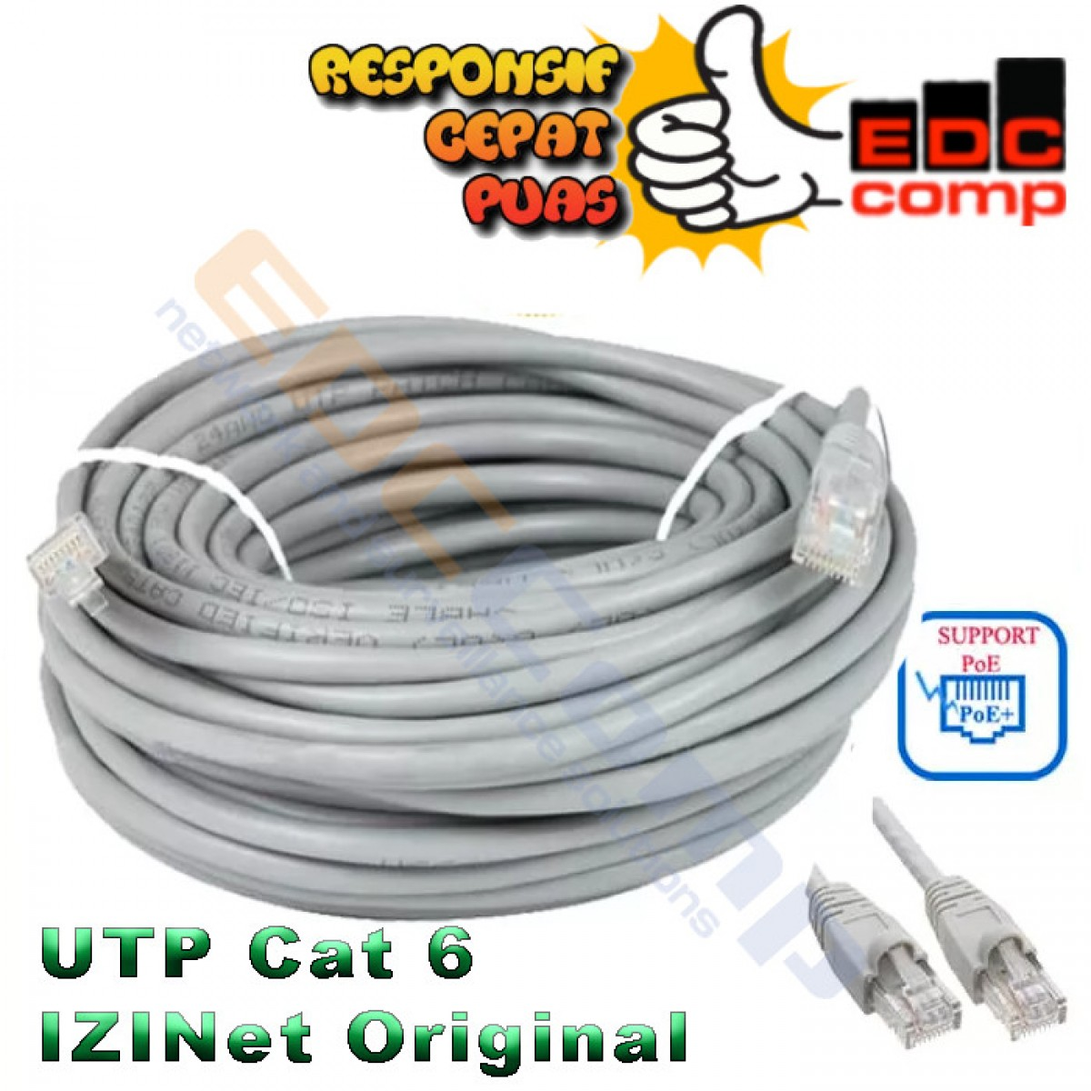 Kabel IZINET UTP Cat6 / Cable Izinet Cat6 15 Meter - EdcComp