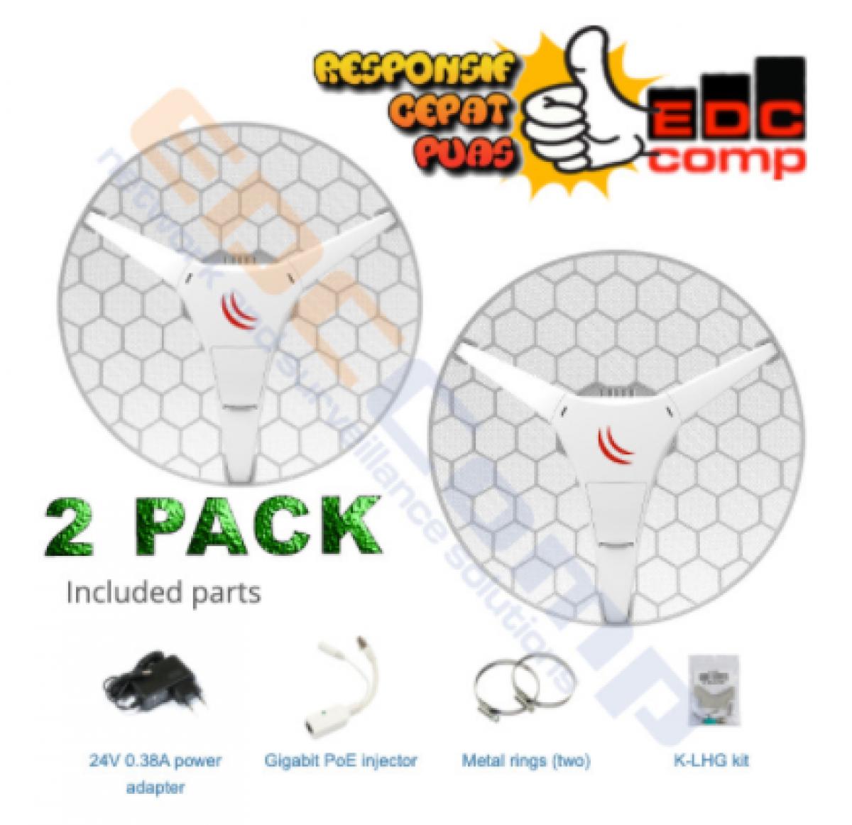 Embedded Wireless MikroTik RBLHGG-5acD-XL - RB LHG 5ACD XL 2PACK - EdcComp