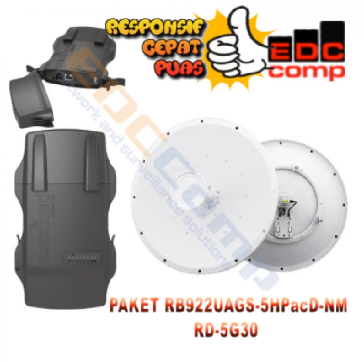 Paket MikroTik Netmetal 5-e / RB922UAGS-5HPacD-NM + UBNT RD-5G30 - EdcComp