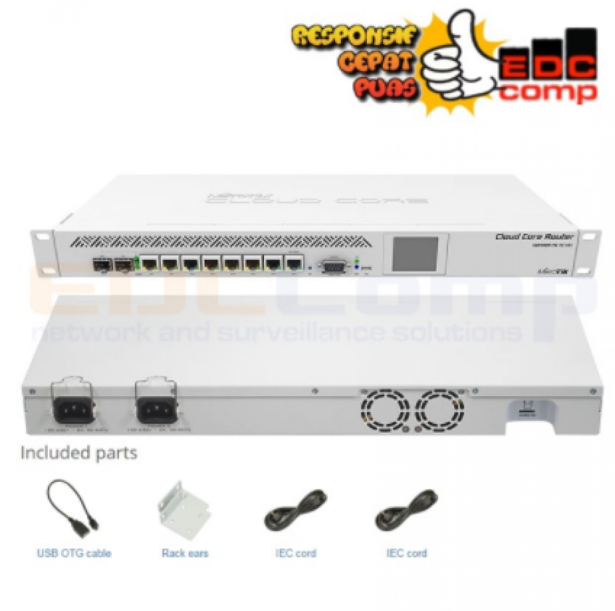 Routerboard CCR1009-7G-1C-1S+ - EdcComp